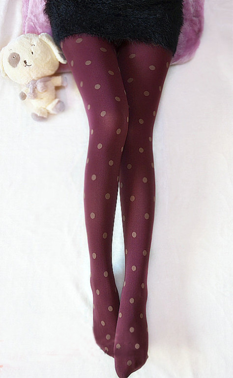 Leggings Pantyhose - Wine-red 76A134